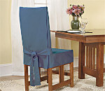 SureFit Cotton Duck Short Dining Chair Cover