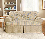 Lexington One Piece T-Cushion Sofa Slipcover