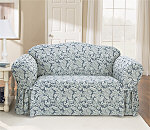 SureFit Scroll One Piece Sofa Slipcover
