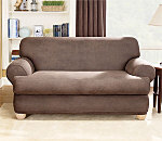 SureFit Stretch Leather Separate Seat T-Cushion Sofa Slipcover