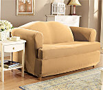Stretch Pique Separate Seat T-Cushion Slipcover