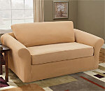 SureFit Stretch Pique Three Piece Sofa Slipcover