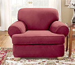 SureFit Stretch Suede Separate Seat T-Cushion Chair Slipcover