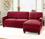 Stretch Pique Two Piece with Right Side Chaise Sectional Slipcover